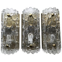 Mid-Century Lyfa Wall Sconces by Carl Fagerlund and Orrefors