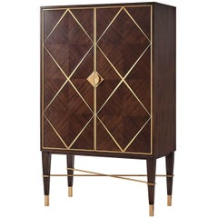 Midcentury Mahogany Bar Cabinet