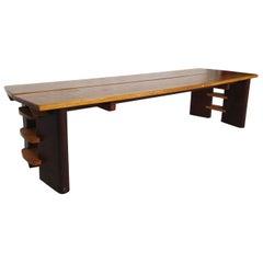 Midcentury Maple and Walnut Coffee Table
