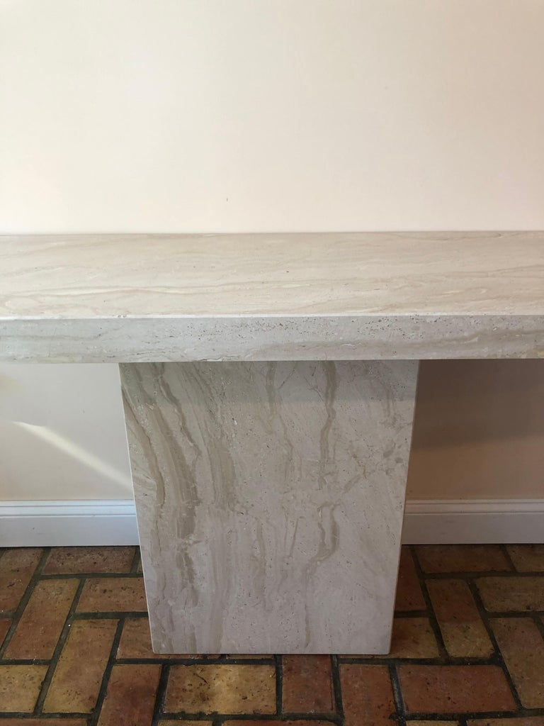 Midcentury Marble Console Table For Sale 3