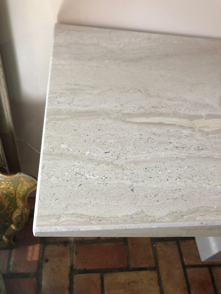 Midcentury Marble Console Table For Sale 4
