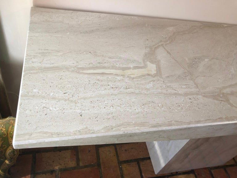 Midcentury Marble Console Table For Sale 5