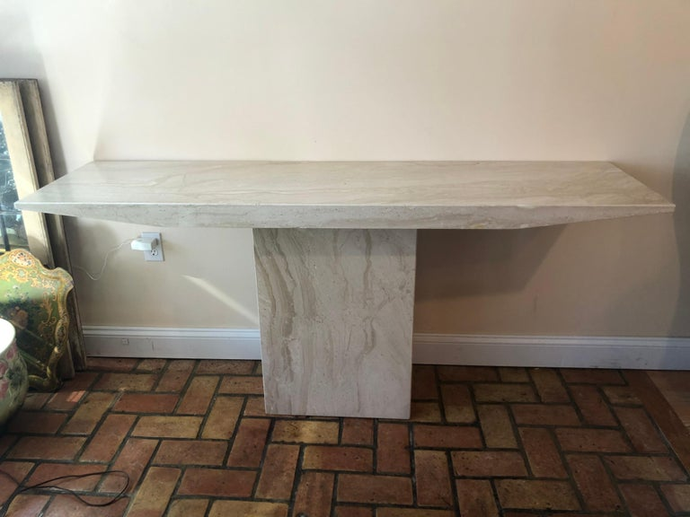 Midcentury Marble Console Table For Sale 6