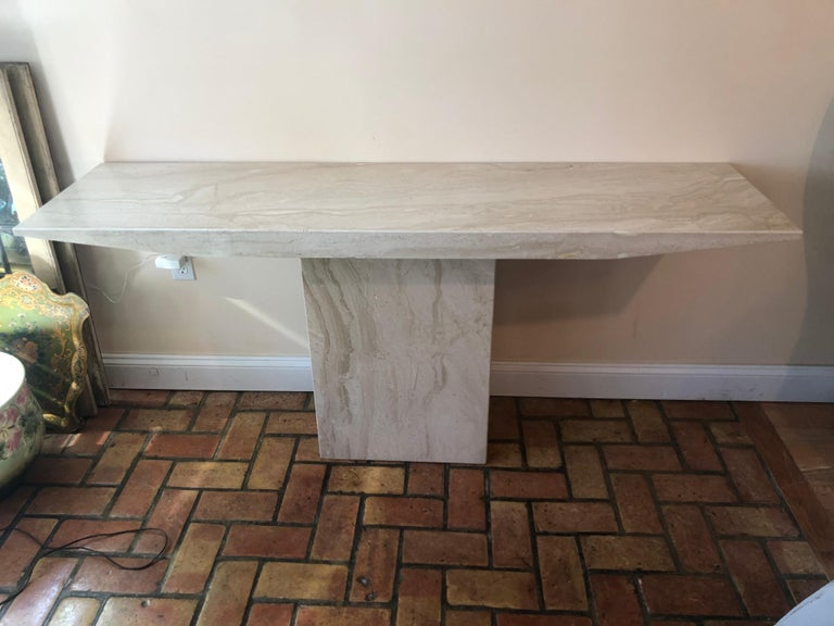 Midcentury Marble Console Table For Sale 7