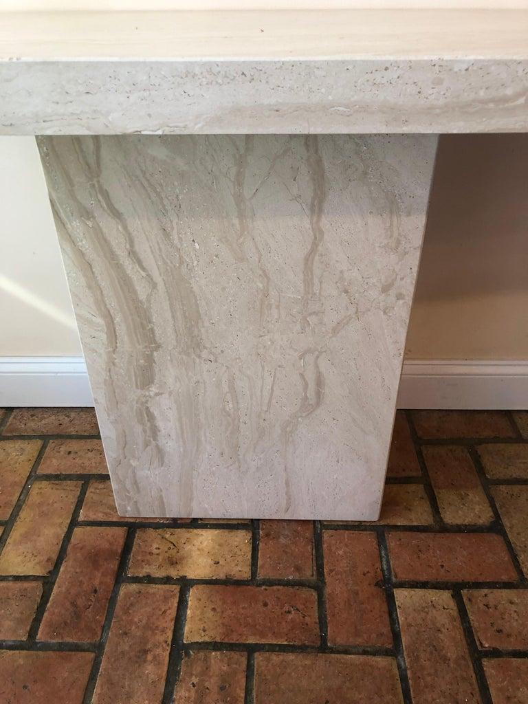Midcentury Marble Console Table For Sale 8