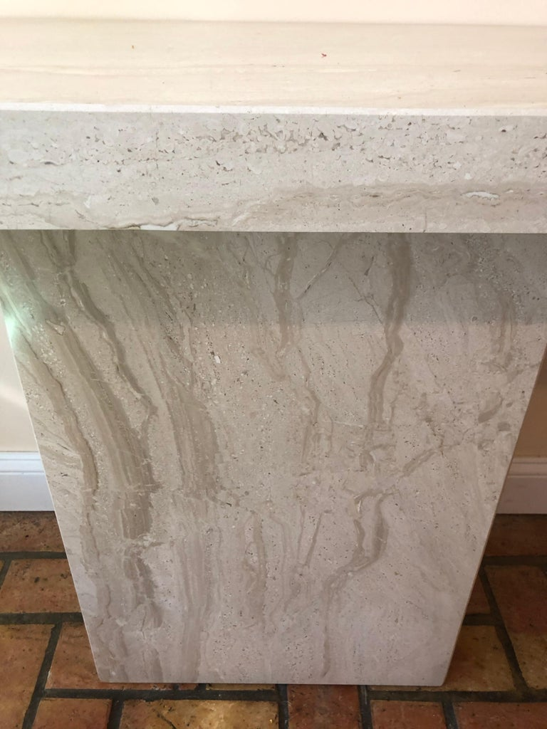 Midcentury Marble Console Table For Sale 9
