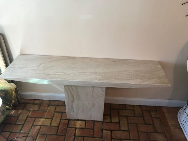 Midcentury Marble Console Table For Sale 10