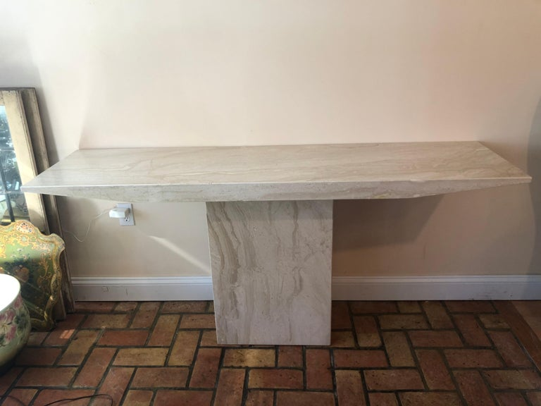 Mid-Century Modern Midcentury Marble Console Table For Sale