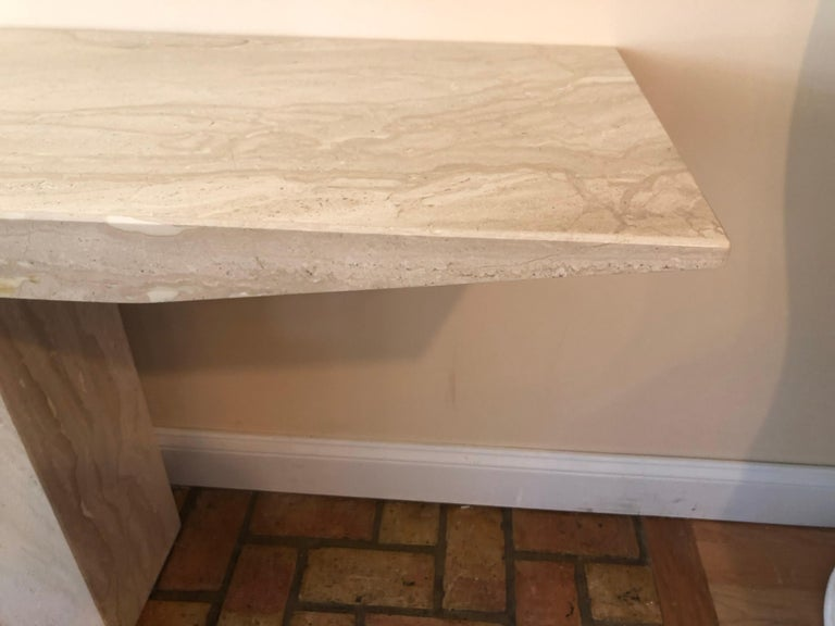 Late 20th Century Midcentury Marble Console Table For Sale