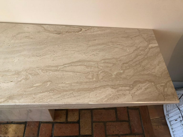 Stone Midcentury Marble Console Table For Sale