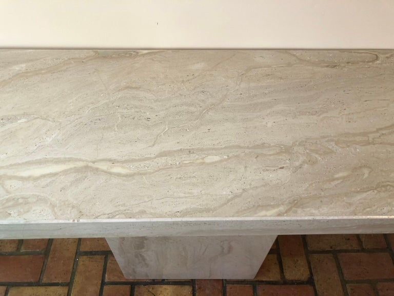 Midcentury Marble Console Table For Sale 1