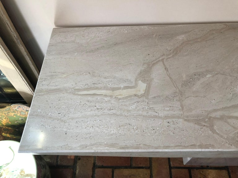 Midcentury Marble Console Table For Sale 2