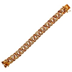 Midcentury Massive Tiffany & Co. Gold Link Bracelet