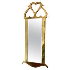 Mid-Century Mastercraft Brass Hanging Mirror