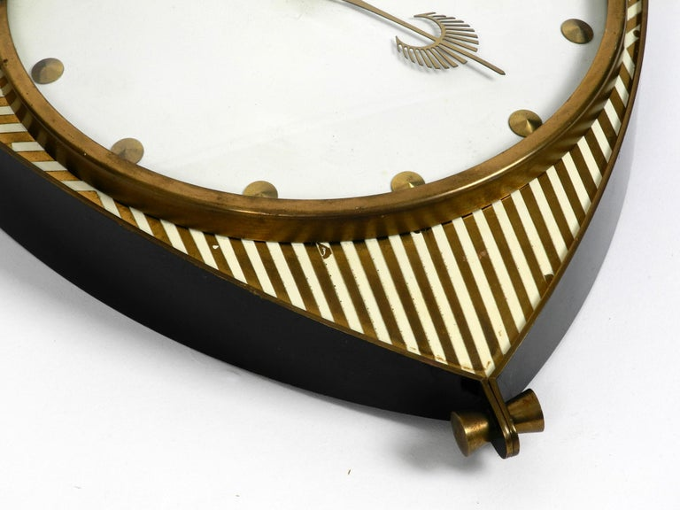 Midcentury Mechanical Atlanta Wall Clock with 10 Days Movement and with Gong In Good Condition For Sale In München, DE