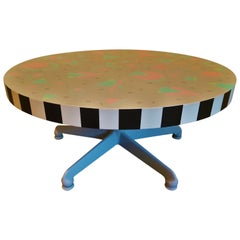 Mid-Century Memphis Style Side Coffee Table, Italy 1980s