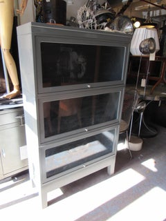 Mid-Century Metal Barrister Bookcase