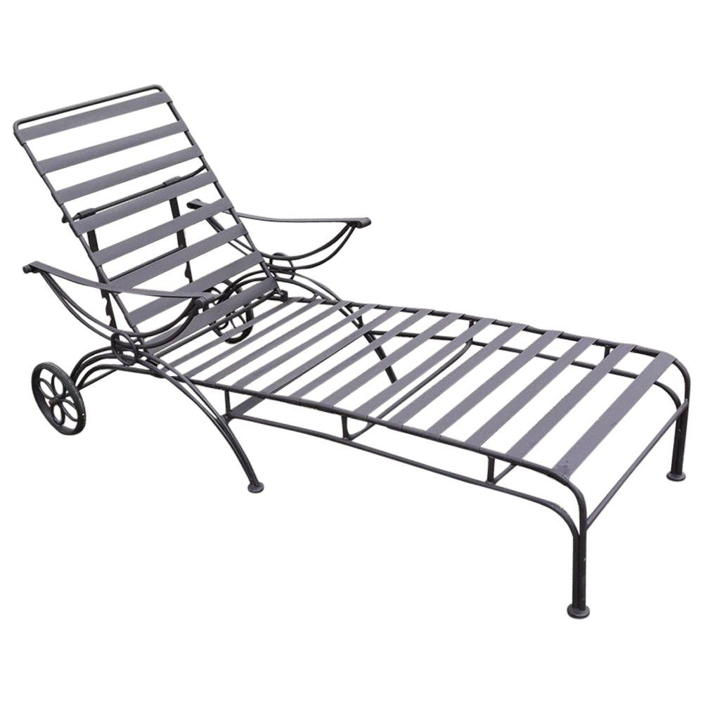 Midcentury Metal Chaise Lounge
