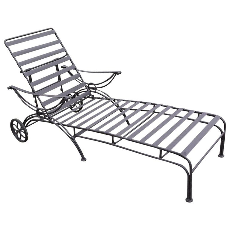 Midcentury Metal Chaise Lounge For Sale