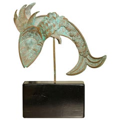 Mid-Century Metal Fish Sculpture
