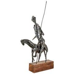 Midcentury Metal Sculpture of Don Quixote