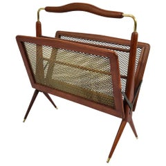 Mid-Century Mexican Modern Folding Magazine Rack