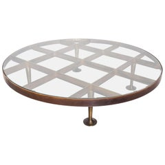 Mid Century Mexican Modernist Arturo Pani, Coffee Table in Bronze