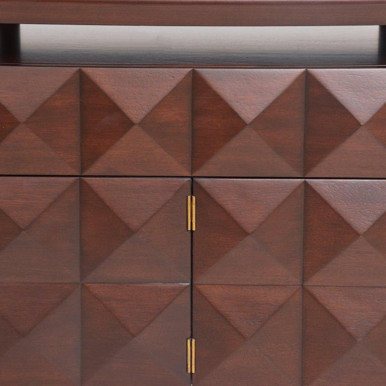 Mid-Century Mexican Modernist Mahogany Credenza For Sale 2