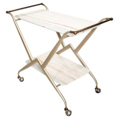 Midcentury Mexican Modernist Serving Bakery Bar Table Trolley Arturo Pani Attr