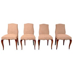 Midcentury Mexican Modernist Set of Four Neoclassical Chairs by Arturo Pani