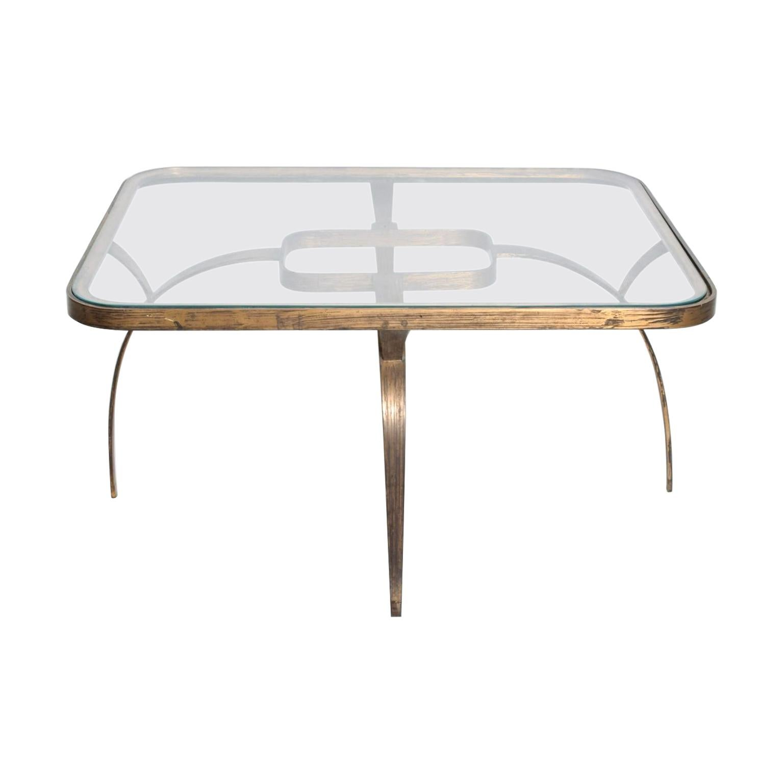 Midcentury Mexican Modernist Side Coffee Table Arturo Pani Sculptural Bronze