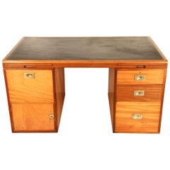 Midcentury Military Style Pedestal Desk by Waring and Gillow