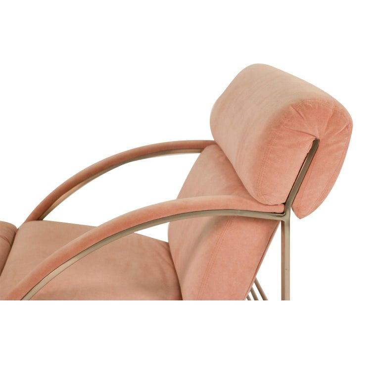 Mid-Century Modern Midcentury Milo Baughman Style Chrome Lounge Chair For Sale