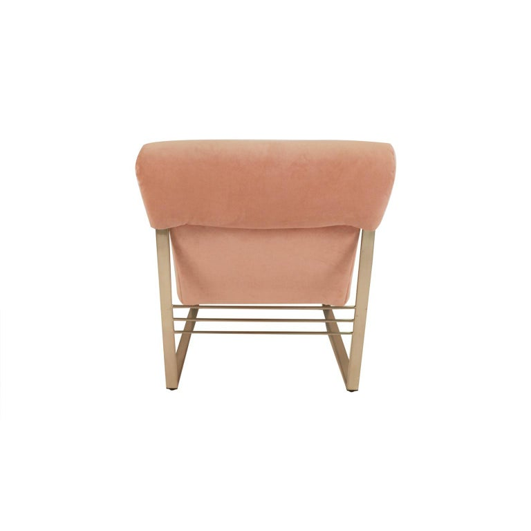 American Midcentury Milo Baughman Style Chrome Lounge Chair For Sale