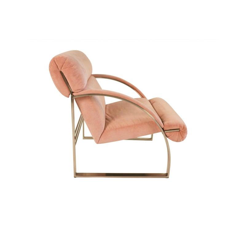 20th Century Midcentury Milo Baughman Style Chrome Lounge Chair For Sale