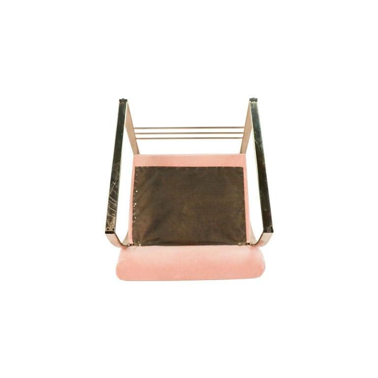 Midcentury Milo Baughman Style Chrome Lounge Chair For Sale 2