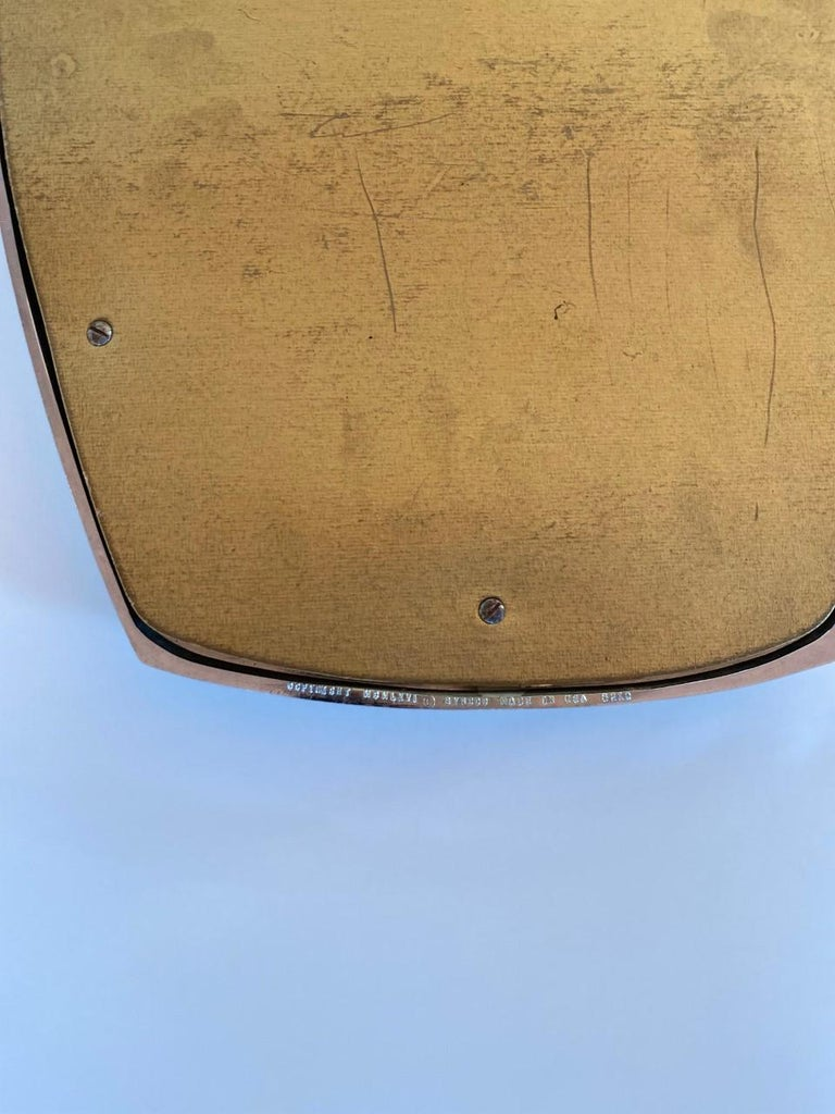 Hand-Crafted Midcentury Mirror by Syroco For Sale