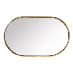 Gold Mirror Minimalist, Beveled ,Mid-Century