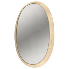 Midcentury Mirror with Back-Light Resin Frame