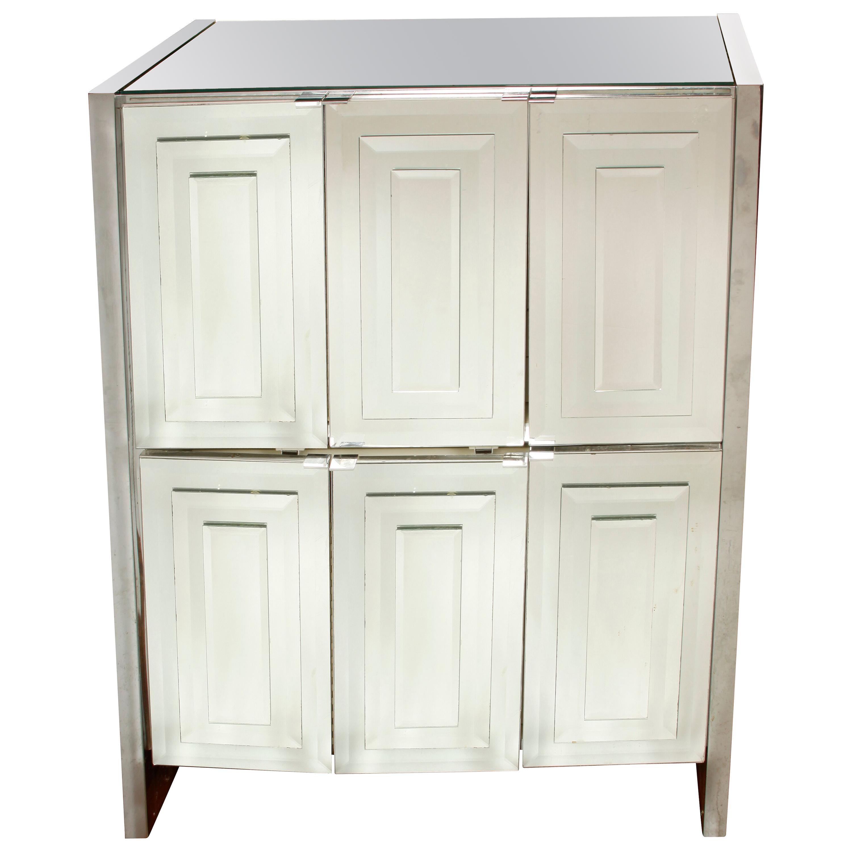 Midcentury Mirrored Cabinet
