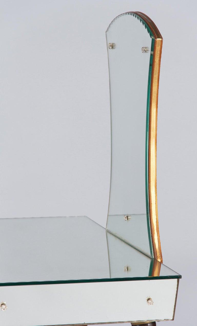 Mid-Century Mirrored Venetian Glass Vanity Table, 1950s For Sale 5