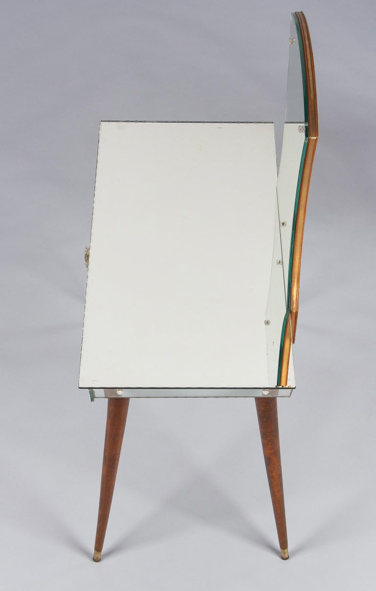 Mid-Century Mirrored Venetian Glass Vanity Table, 1950s For Sale 6