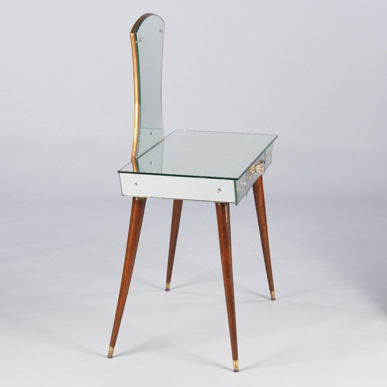 Mid-Century Mirrored Venetian Glass Vanity Table, 1950s For Sale 9