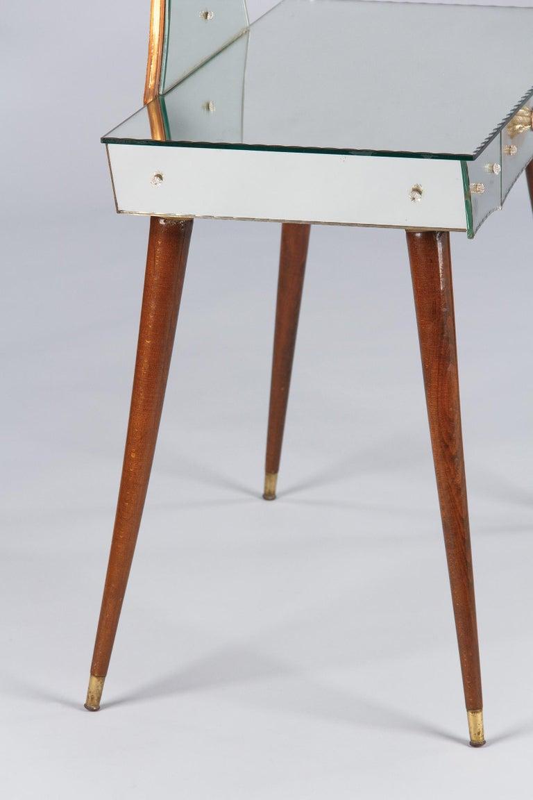 Mid-Century Mirrored Venetian Glass Vanity Table, 1950s For Sale 10
