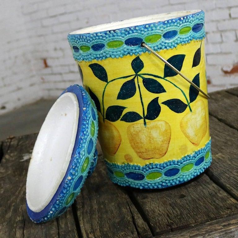 Mid-Century Modern Styrofoam Ice Bucket Aldo Londi Style Rimini Blue Color For Sale 1