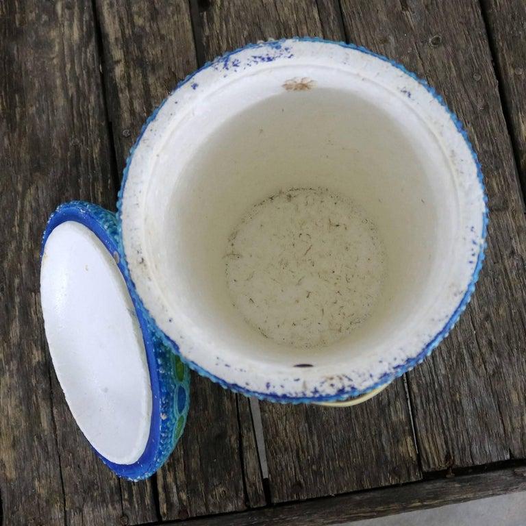 Mid-Century Modern Styrofoam Ice Bucket Aldo Londi Style Rimini Blue Color For Sale 2