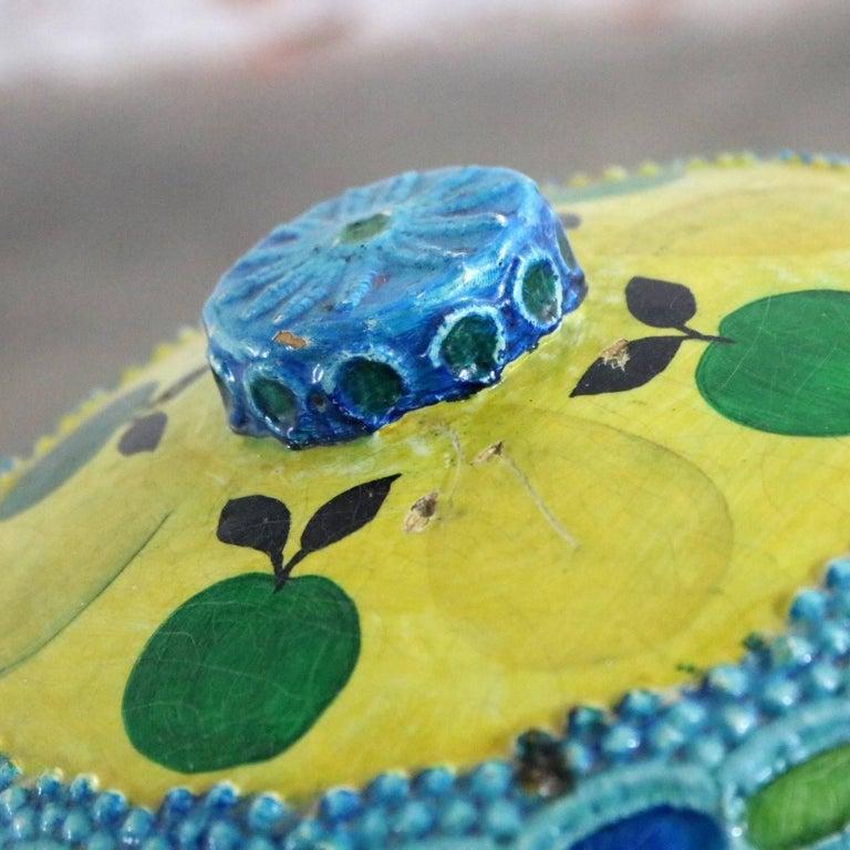 Mid-Century Modern Styrofoam Ice Bucket Aldo Londi Style Rimini Blue Color For Sale 4