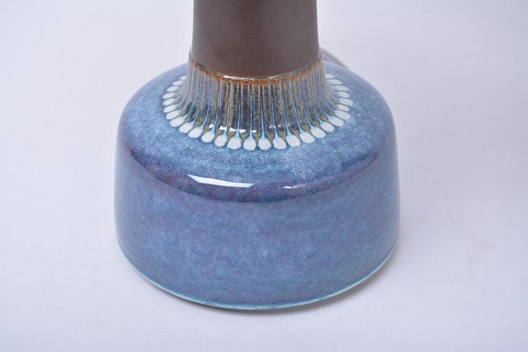 Glazed Mid-Century Modern Stoneware table lamp by Einar Johansen for Søholm For Sale