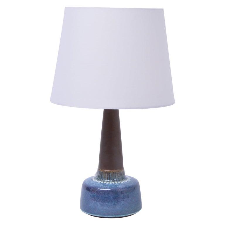 Mid-Century Modern Stoneware table lamp by Einar Johansen for Søholm For Sale
