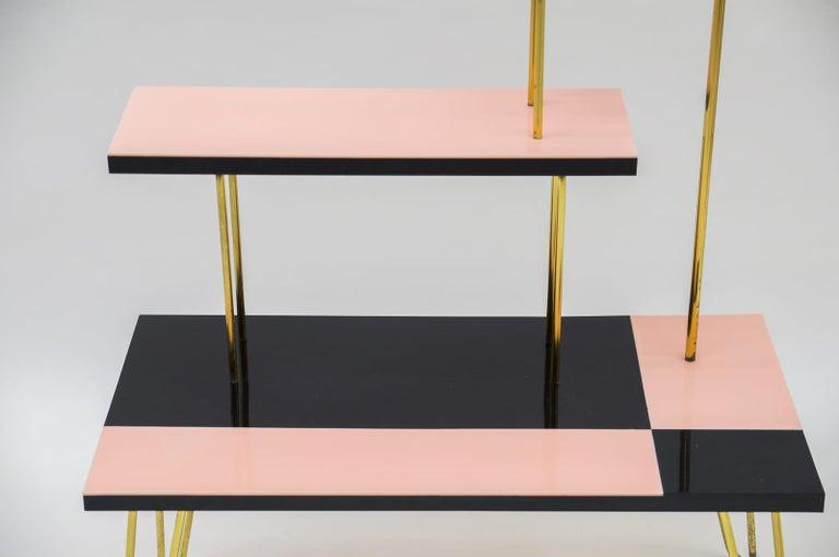 Mid-Century Modern Brass Tubular Steel Étagère / Flower Stand, 1950s/60s For Sale 4